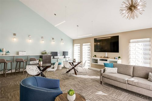 renovated multifamily common room